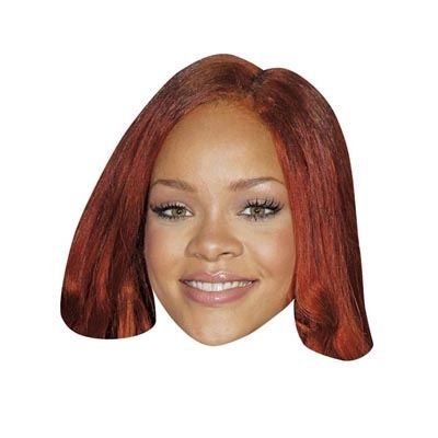Rihanna Celebrity Mask, Cardboard Face and Fancy Dress Mask