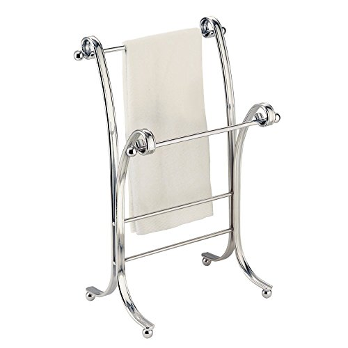 Towel Rack Stand Chrome Bathroom Holder Fingertip Floor