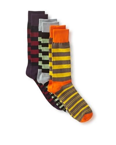 English Laundry Men's Fancy Colorblock - 3 Pack Socks