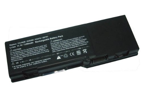 OEM Replacement Laptop Battery for Dell Inspiron 6400 Inspiron 1501 Inspiron E1505, Latitude 131L, Vostro 1000, Dell Portion # 312-0428, 0UD260, KD476, GD761, Li-ion, 11.1V, 7800mAh, 86wHr, 9 Cells, One Year Undertaking