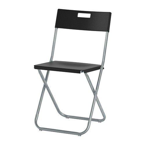 IKEA-Gunde-Klappstuhl-schwarz