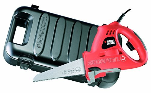 Black + Decker KS890EK Scorpion Powered Handsaw 400 Watts with Kitbox by BLACK+DECKER (Black And Decker Scorpion Saw compare prices)