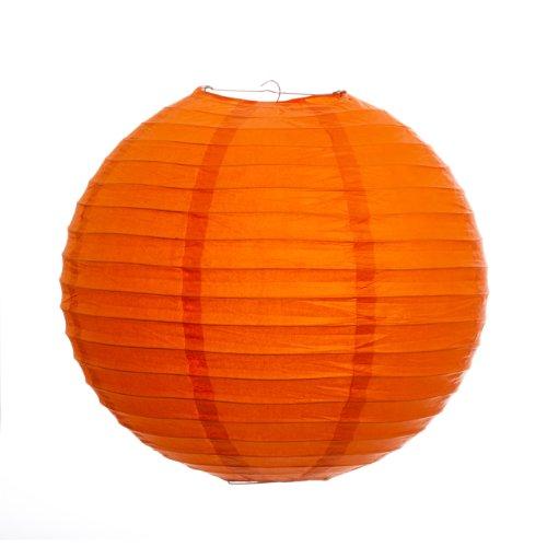 Koyal 20-Inch Paper Lantern, Mango Orange, Set of 6