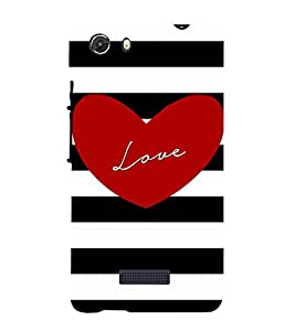 Young Love 3D Hard Polycarbonate Designer Back Case Cover for MIcromax Canvas Unite 3 Q372