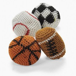 Knitted Sport Ball Kick Balls (1 dozen) - Bulk [Toy]