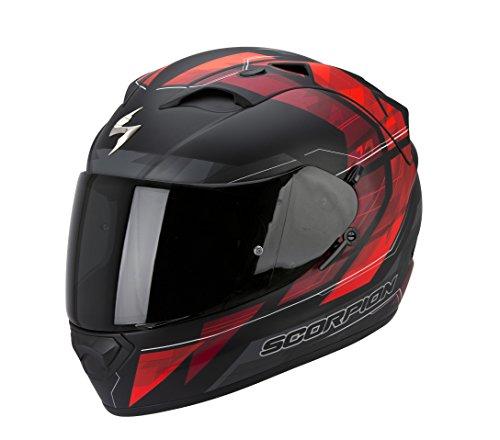 SCORPION-EXO-1200-AIR-HORNET-casco-integral-Negro-y-Rojo-MATE-Talla-M