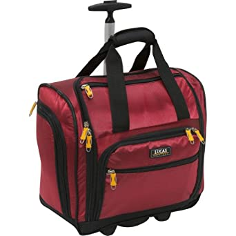 LUCAS Wheeled Under the Seat Cabin Bag EXCLUSIVE (Red)
