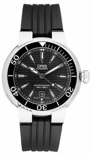 Oris Men's 733 7562 7154RS TT1 Divers Titan Date Black Dial Watch