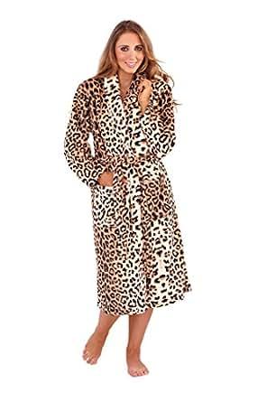 NEW LUXURY WOMENS FULL LENGTH FLEECE BATH ROBE DRESSING GOWN HOUSECOAT+ BELT POCKETS COLLAR LADIES SMALL