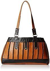Fantosy Women's Handbag (Tan and Black) (FNB-400)