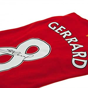 Liverpool F.C. Gerrard Signed Shirt- Steven Gerrard replica 2011/12 Liverpool shirt- hand signed on the number- photographic certificate of authenticity- Official Football Merchandise