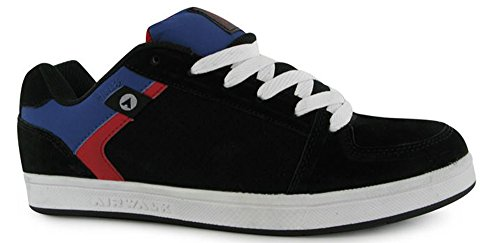 mens-sports-suede-accents-brock-skate-shoes-trainers-11-45-black-red