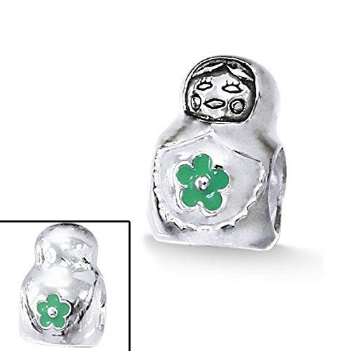 silvadore-argent-suki-figurine-poupee-japonaise-vert-fleur-argent-925-sterling-473-3d-glissez-le-bra