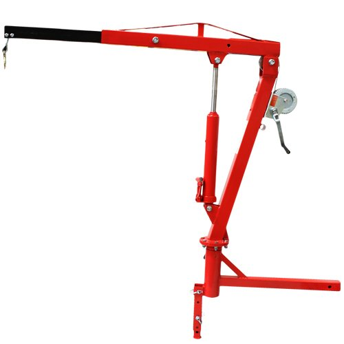 Lowest Prices! XtremepowerUS 500 Lb Pickup Truck Hydraulic Pwc Dock Jib Engine Hoist Crane Hitch Mou...