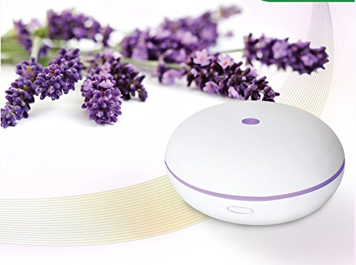 Essential Oil Diffuser By Smiley Daisy® - Say softly-Quiet Cool Mist Humidifier - Enjoy Aromatherapy Experience with Your Favorite Scented Essential Oils - Free eReport Download - Ultrasonic Vaporizer with Not counting Mist Disperse Rate - Enlightening 7