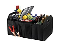 Fully Collapsible and Portable Trunk Organizer Great for Storing Tools, Maps, Cleaning Supplies, Bottles, Emergency Geear, Groceries and Much More for Cars SUV Truck from Dependable Industries inc
