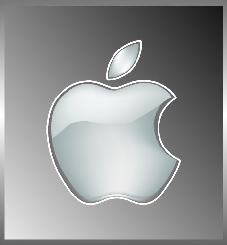 Apple shiny look finish logo vinyl decal bumper sticker