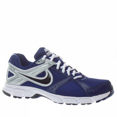 Nike Men's NIKE DOWNSHIFTER 4 RUNNING SHOES 9 (LYL BLUE/BLACK/METALLIC SILVER/WHITE)