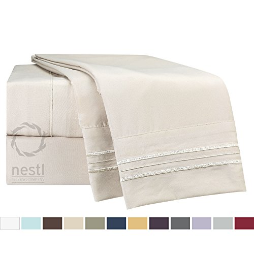 Disposable Bed Sheets Australia: Bed-In-A-Bag 9 Piece Complete Bed Sheet Set Ð Queen Cream