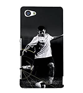 EPICCASE Football Fan Mobile Back Case Cover For Sony Xperia Z5 Mini / Z5 Compact (Designer Case)