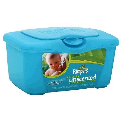 Pampers Natural Aloe Unscented Wipes Tub 72 ea by Pampers