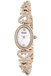 Badgley Mischka Women's BA/1304WMGB Swarovski Crystal-Accented Bracelet Watch