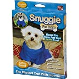 Snuggie for Dogs Blue Colored Fleece Blanket Coat with Sleeves - Extra Small