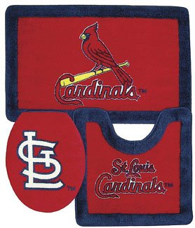 St. Louis Cardinals Bathroom Rug Set