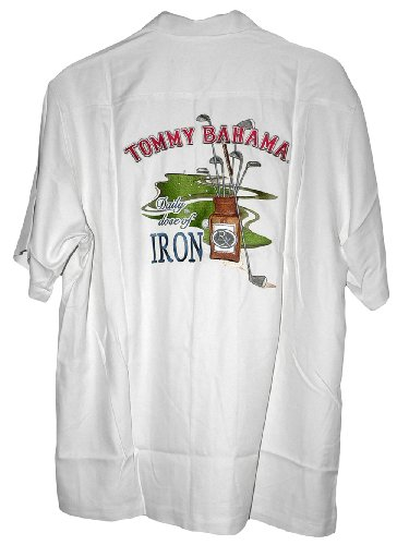 Tommy bahama embroidered daily dose of iron golf silk camp for Tommy bahama embroidered silk camp shirt