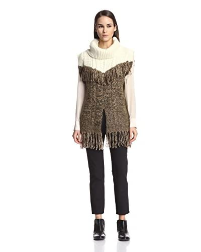 Thakoon Addition Women's Cowl Neck Pullover with Fringe