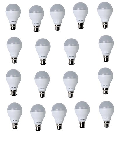 9 Watt LED Bulb (White, Pack of 18)