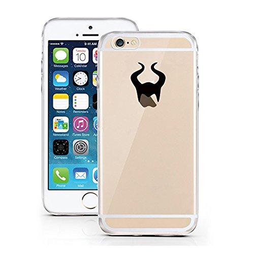 licaso® iPhone 6TPU Cover Disney Case trasparente chiara per cellulare cellulare iPhone6tasca Phone Case, Maleficent, iPhone 6 6S
