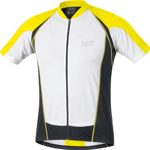 Gore Bike Wear Men's Contest FZ Jersey (Lemon/White/Black, Large)