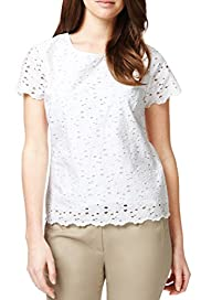 Pure Cotton Circle Lace Shell Top [T50-4069-S]