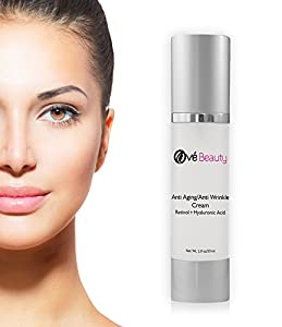 Ové Beauty Anti Aging Face Cream With both Retinol and Hyaluronic Acid! GUARANTEED-Clinically Proven Ingredients-USA made 2 Oz.