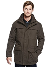 Blue Harbour Water Resistant Cotton Rich Coat