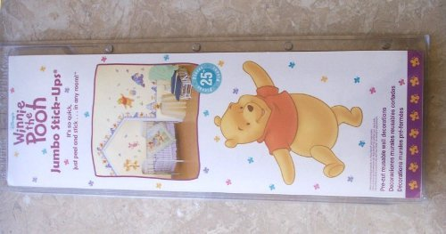 TWO Winnie the Pooh Taste of Hunny 25+ Jumbo Wall Sticker - 1