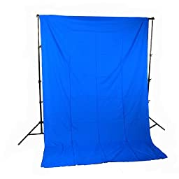 CowboyStudio Photography 10 X 20ft Chromakey Blue Muslin Backdrop with 10ft Crossbar/Heavy Duty Support System and Carry Bag