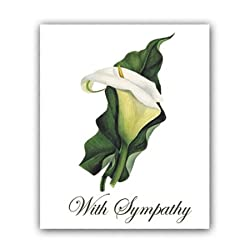 Calla Lily - Sympathy Gift Enclosure Cards (set of 12)
