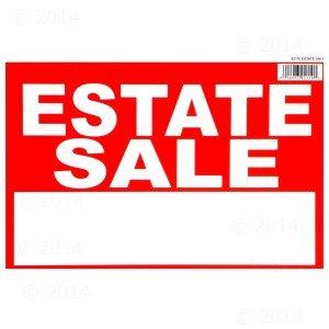 Amazon.com: 8 x 12 Estate Sale Sign (12 pieces