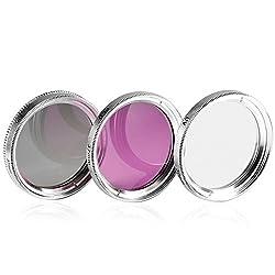 NEEWER 37mm Lens Filter Kit PL+UV+FD for Sony & JVC Camcorders 37mm