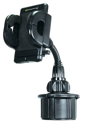 Bracketron Rwa-202-Bl Golf Cart Cup Holder Mount With Grip-It For Gps back-79109