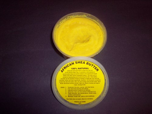 nature and herb Soft & Fine African Shea Butter Cream From Ghana (100% Natural), About 14 Oz Net Weight