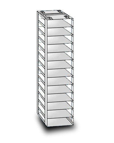 """So-Low 29-13-2 Rack For Chest Style Ultra-Low Freezers. 9 Shelves For 2"""" Boxes. front-454251"""