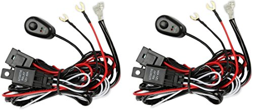 Prime Choice Auto Parts WH840ABPR 2PCS Premium Harness LED Driving Work Light Wiring Loom 12V 40A Switch Relay Kit (2015 Honda Pilot Wiring Harness compare prices)