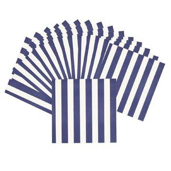 Purple Stripe Beverage Napkins