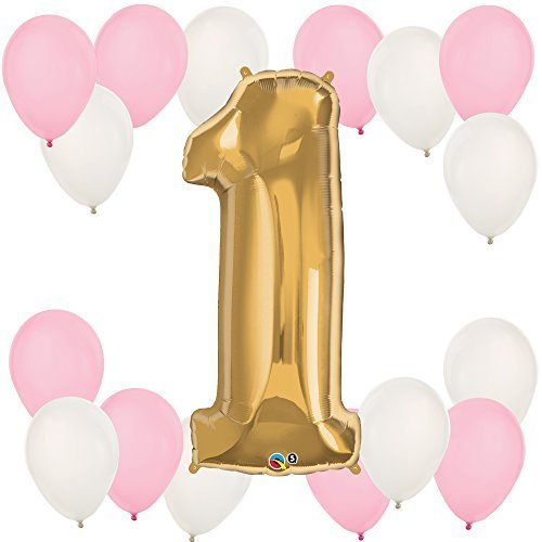 1st Birthday Girl - Fun to be One - Party Balloon Kit (Birthday Girl Supplies compare prices)