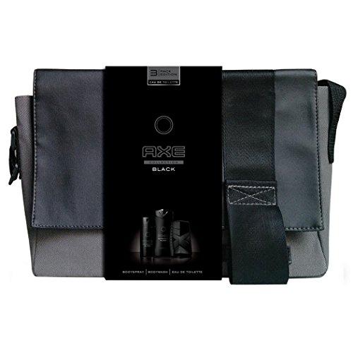 Axe Coffret Cadeau Sacoche Black Eau de Toilette Déodorant + Gel Douche pour Homme