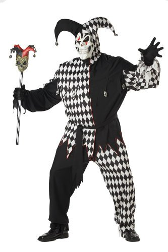 Evil Jester Costume - XX-Large - Chest Size 48-52