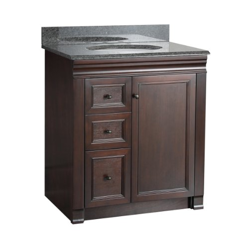Foremost SHEA3021DL Shawna 30-Inch Bath Vanity with Left Side Drawers